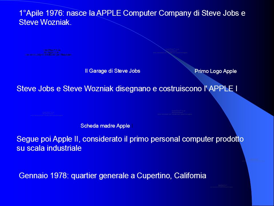 Steve Jobs e Steve Wozniak disegnano e costruiscono l APPLE I