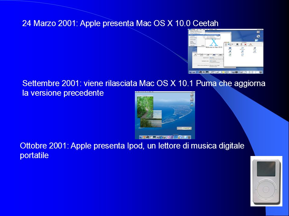 24 Marzo 2001: Apple presenta Mac OS X 10.0 Ceetah