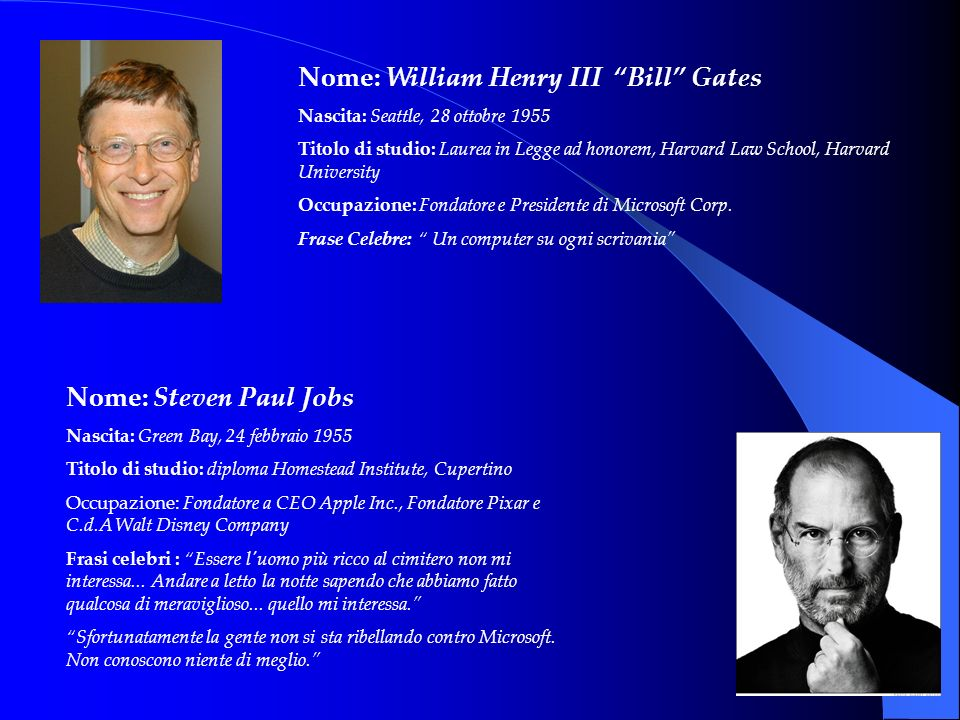 Nome: William Henry III Bill Gates
