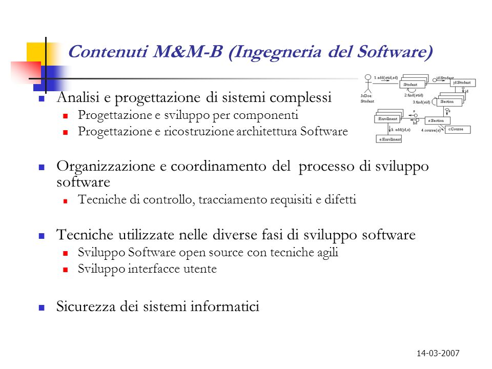 Contenuti M&M-B (Ingegneria del Software)