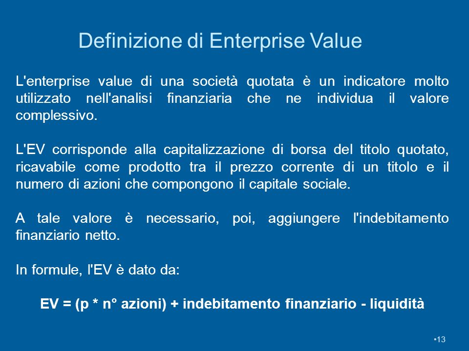 Definizione di Enterprise Value
