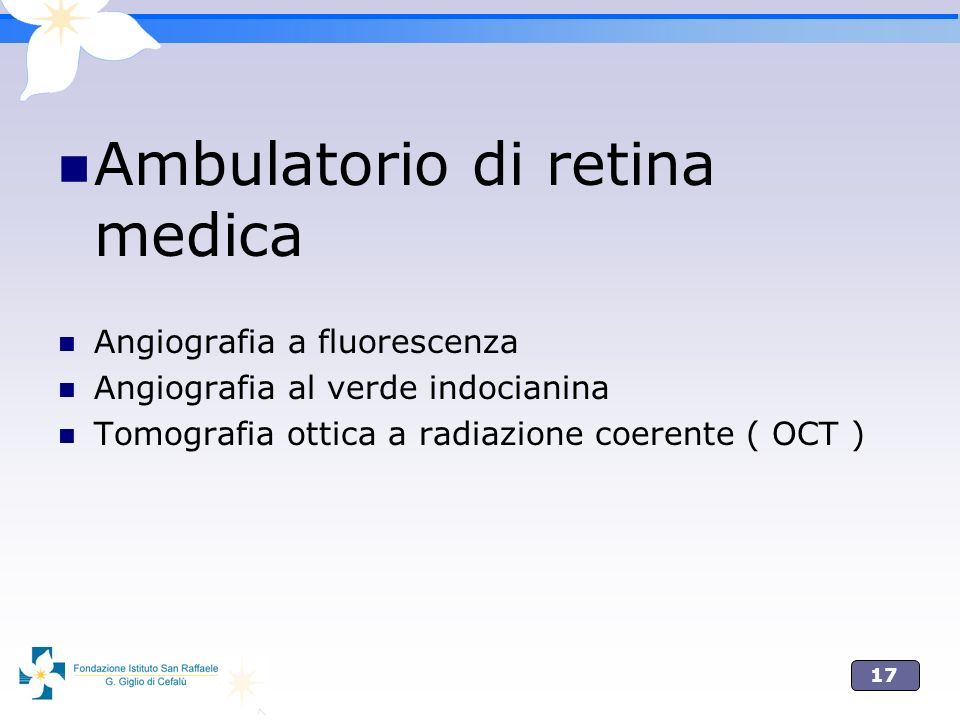 Ambulatorio di retina medica