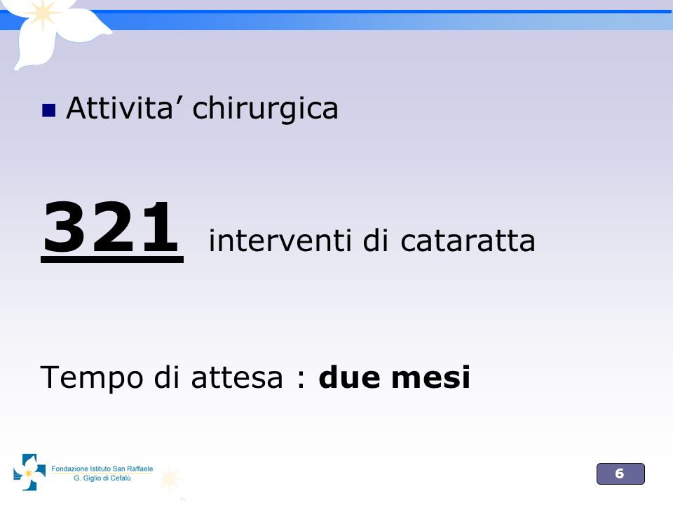 321 interventi di cataratta
