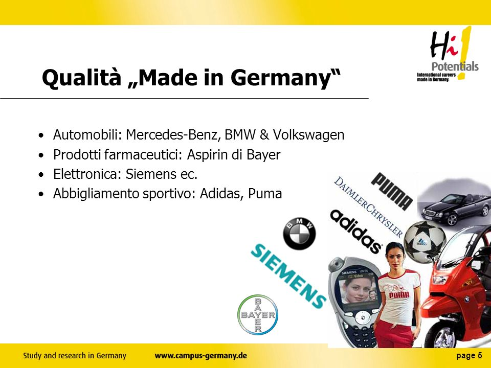 "Qualità ""Made in Germany"