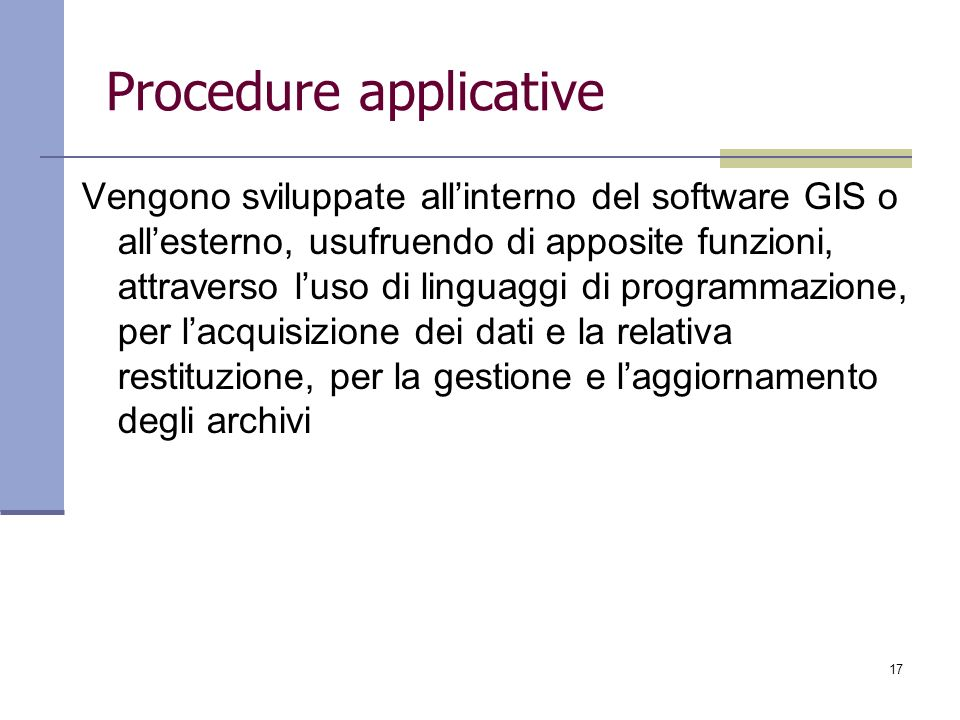 Procedure applicative