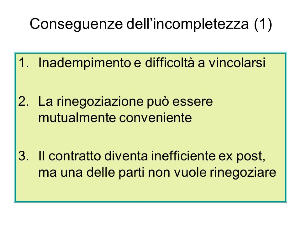 Conseguenze dell'incompletezza (1)