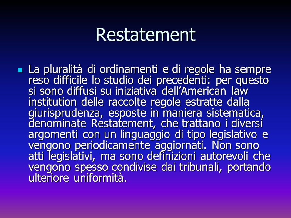 Restatement