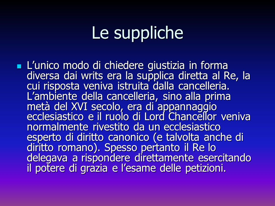 Le suppliche