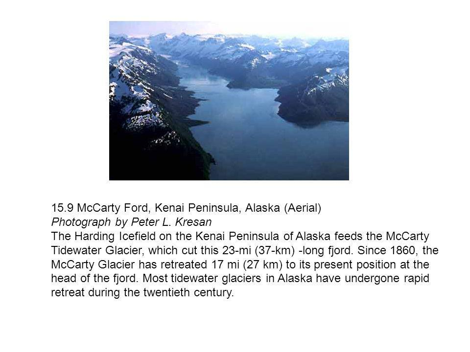 15.9 McCarty Ford, Kenai Peninsula, Alaska (Aerial) Photograph by Peter L. Kresan
