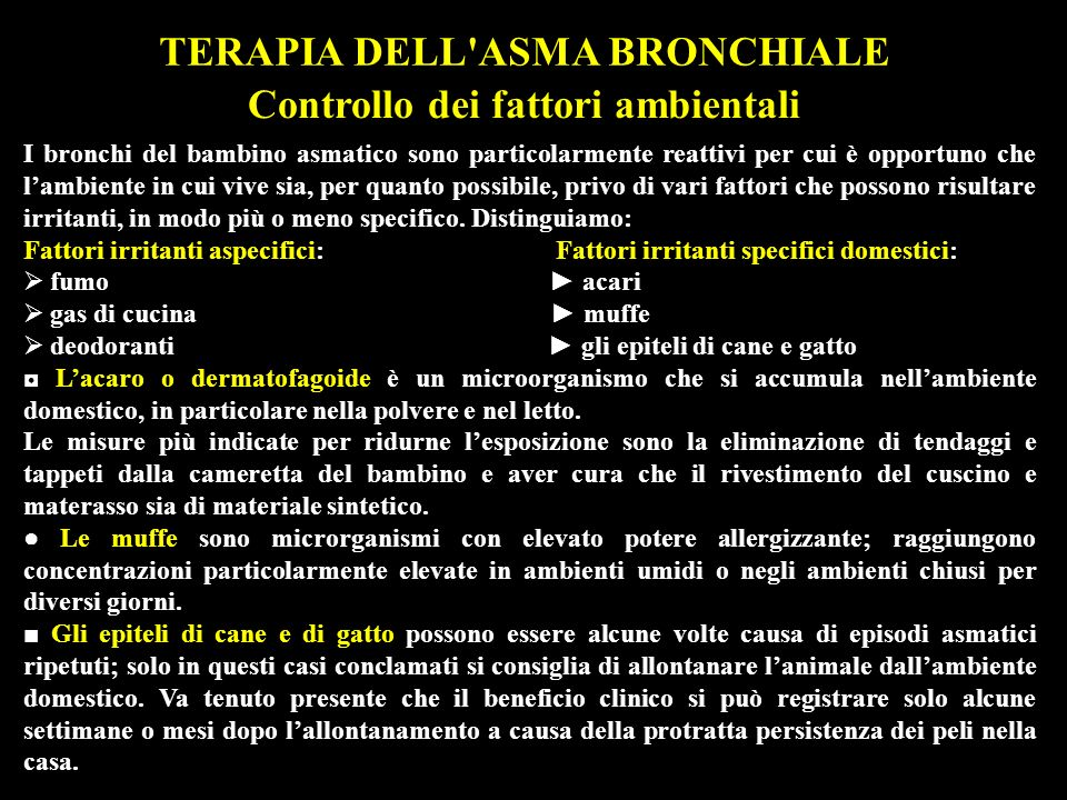 TERAPIA DELL ASMA BRONCHIALE