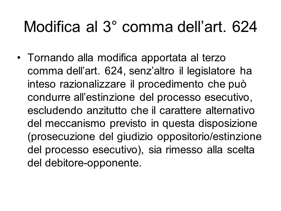 Modifica al 3° comma dell'art. 624