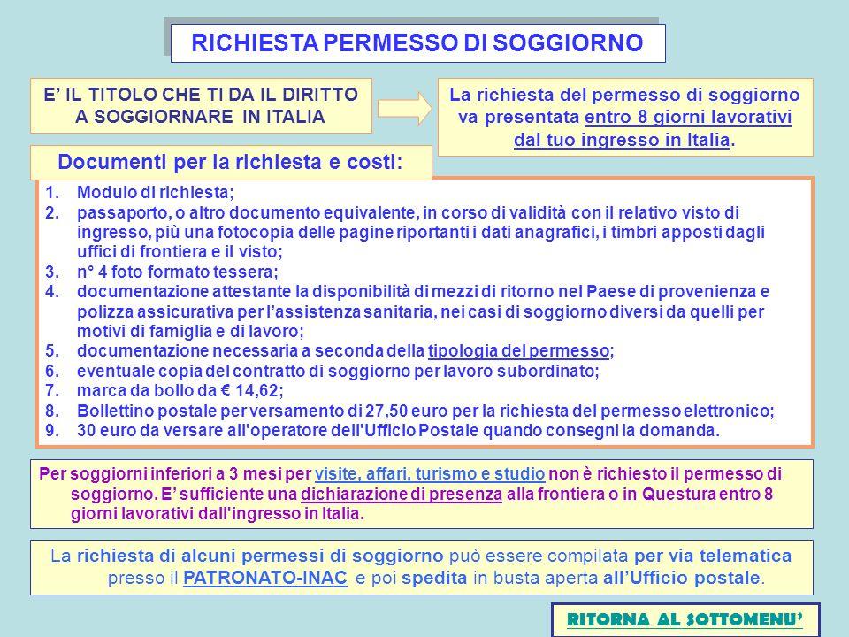 Beautiful Questura Di Gorizia Permessi Di Soggiorno Ideas - Casa ...