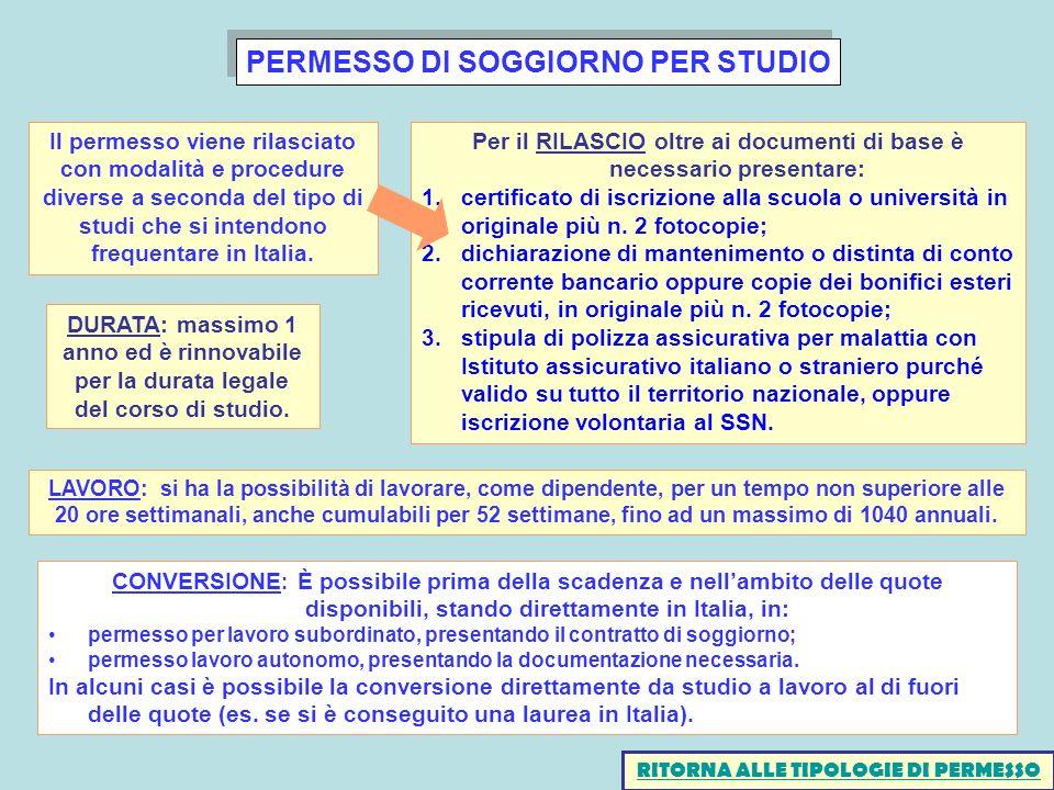 Awesome Permesso Di Soggiorno Studio Pics - Carolineskywalker.com ...