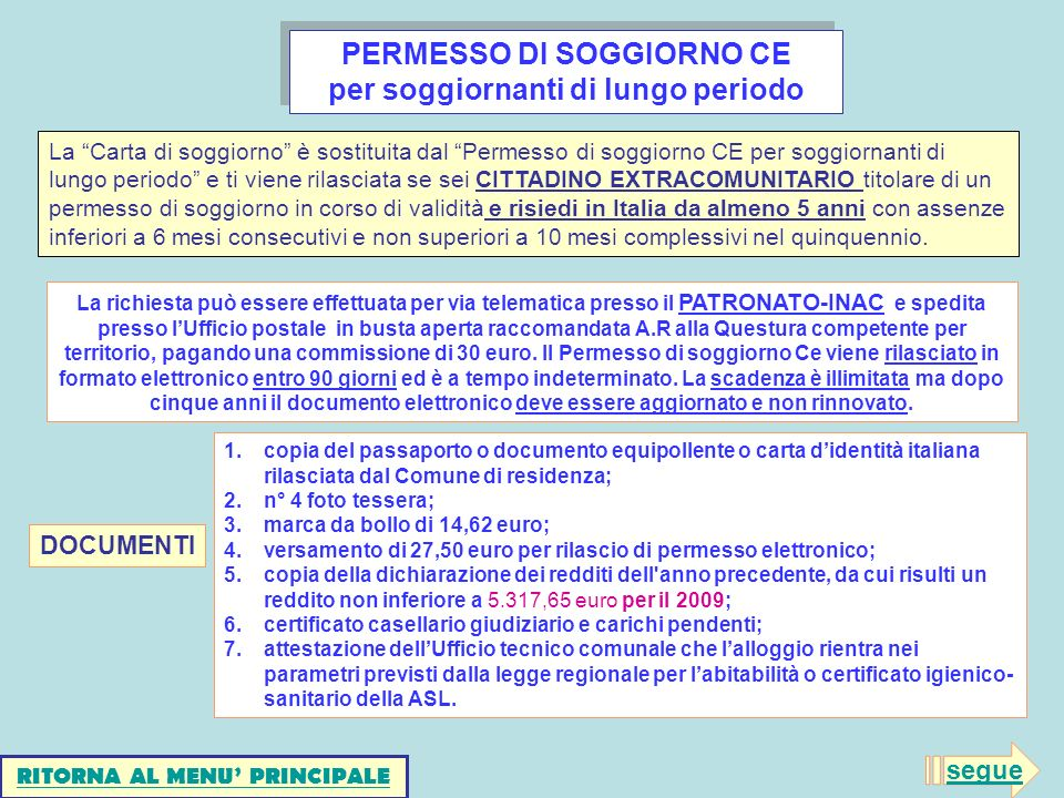 Awesome Carta Di Soggiorno Documenti Photos - Comads897.com ...