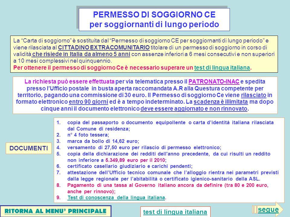 Top Carta Soggiorno Ce Illimitata Galleries ...