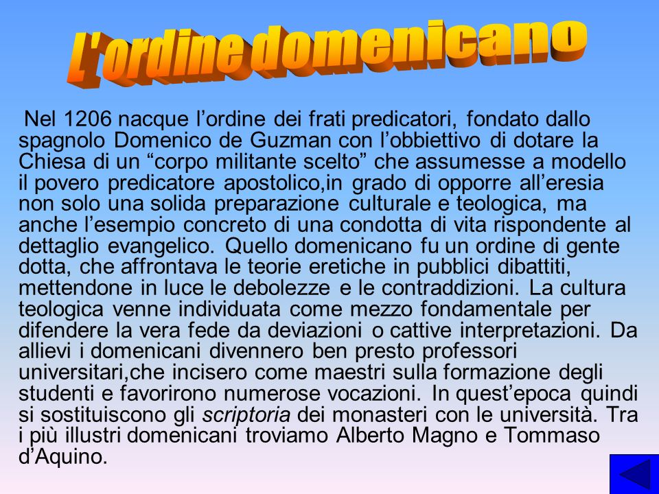 L ordine domenicano