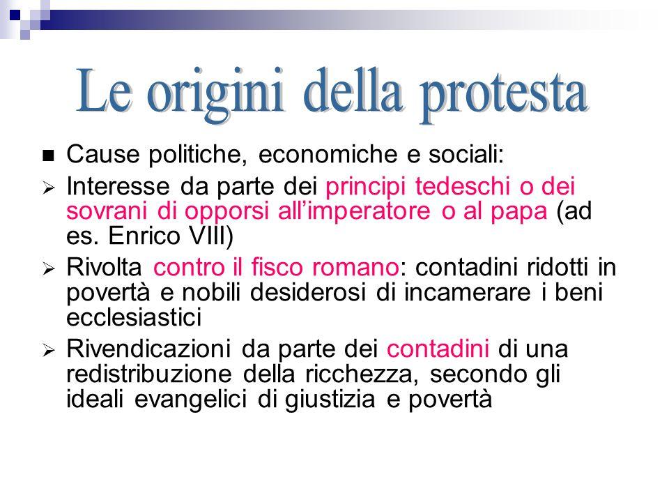 La Riforma protestante - ppt scaricare
