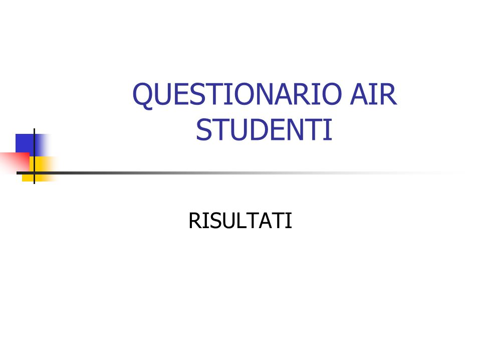 QUESTIONARIO AIR STUDENTI