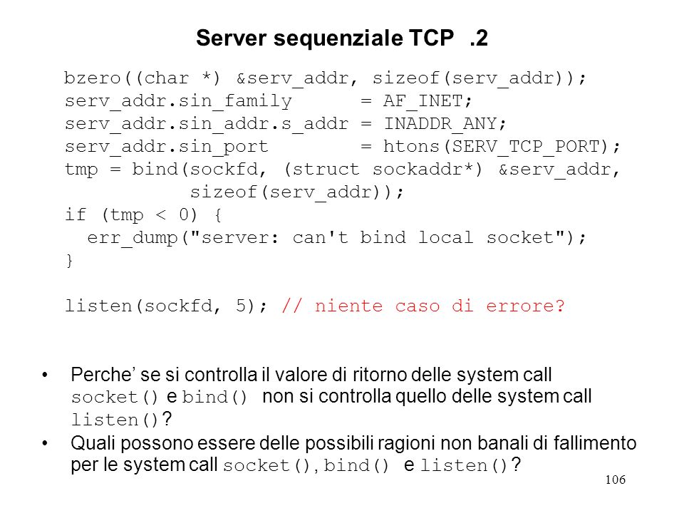 Server sequenziale TCP .2