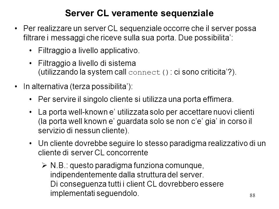Server CL veramente sequenziale