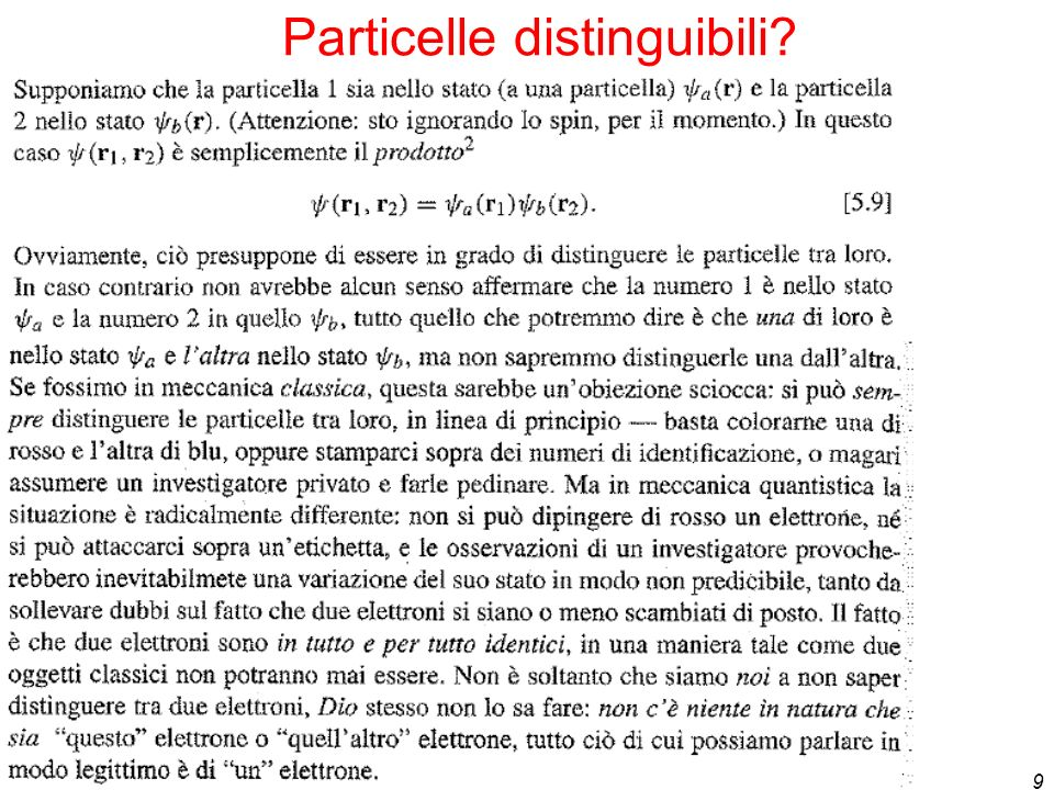 Particelle distinguibili