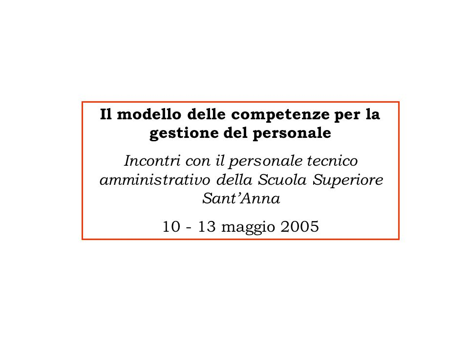 Manager incontri personale