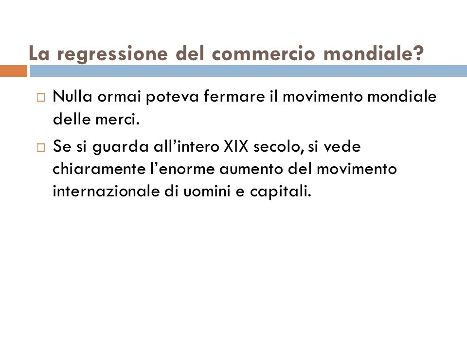 La regressione del commercio mondiale