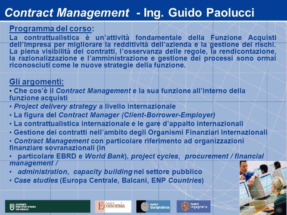 Contract Management - Ing. Guido Paolucci