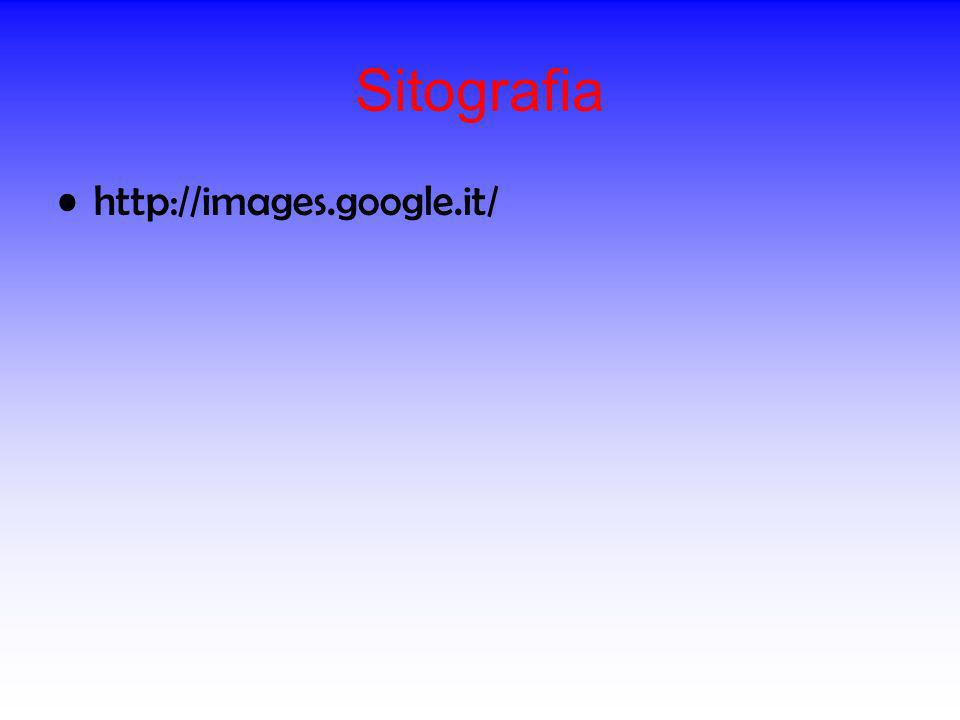 Sitografia http://images.google.it/