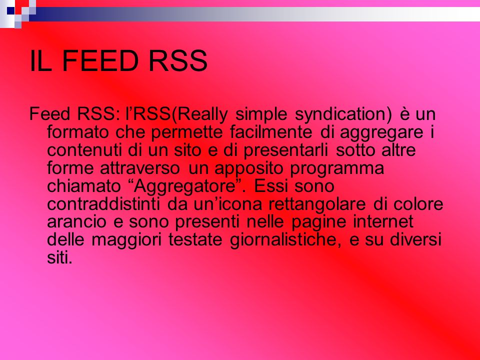 IL FEED RSS