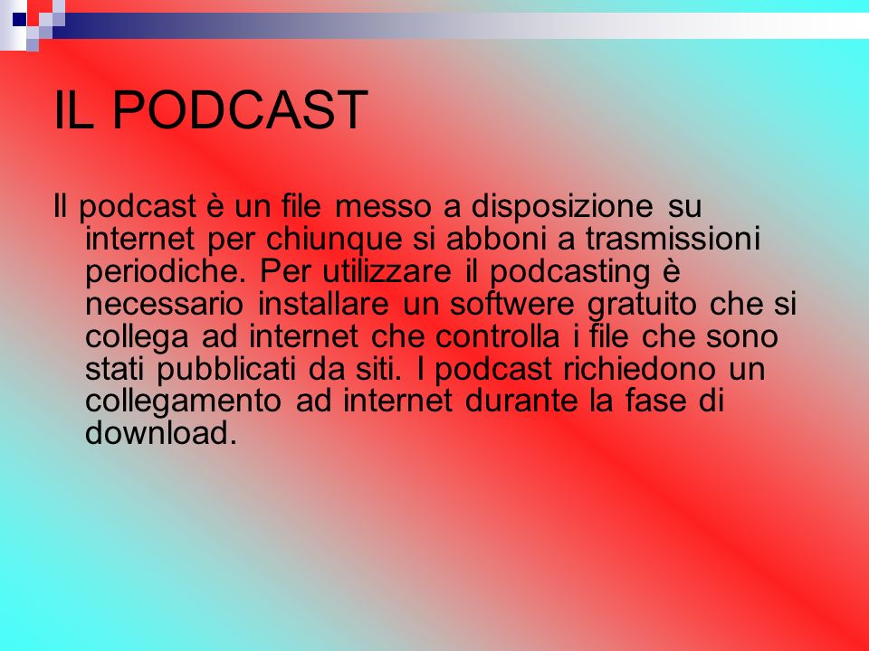 IL PODCAST
