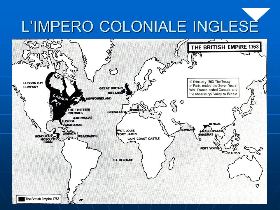 L'IMPERO COLONIALE INGLESE