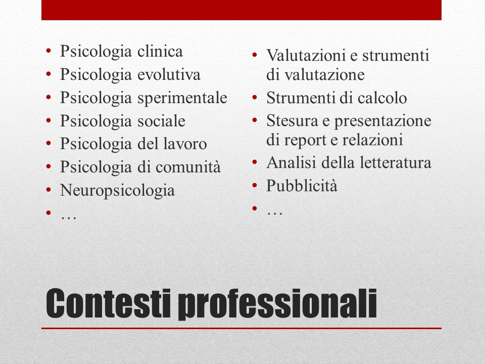 Contesti professionali