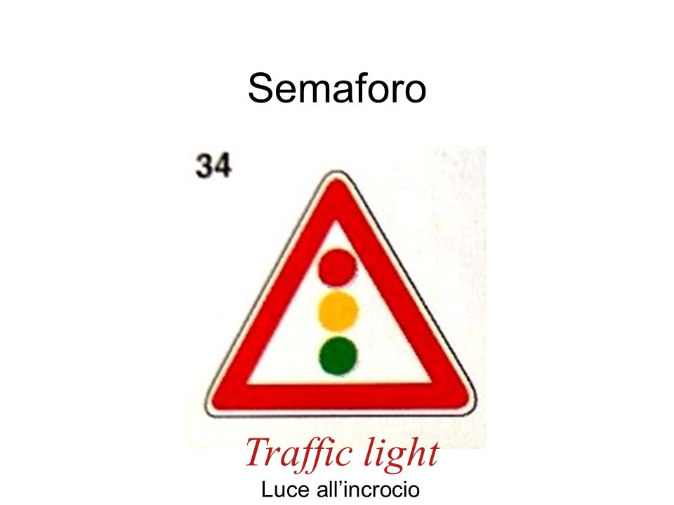 Semaforo Traffic light Luce all'incrocio