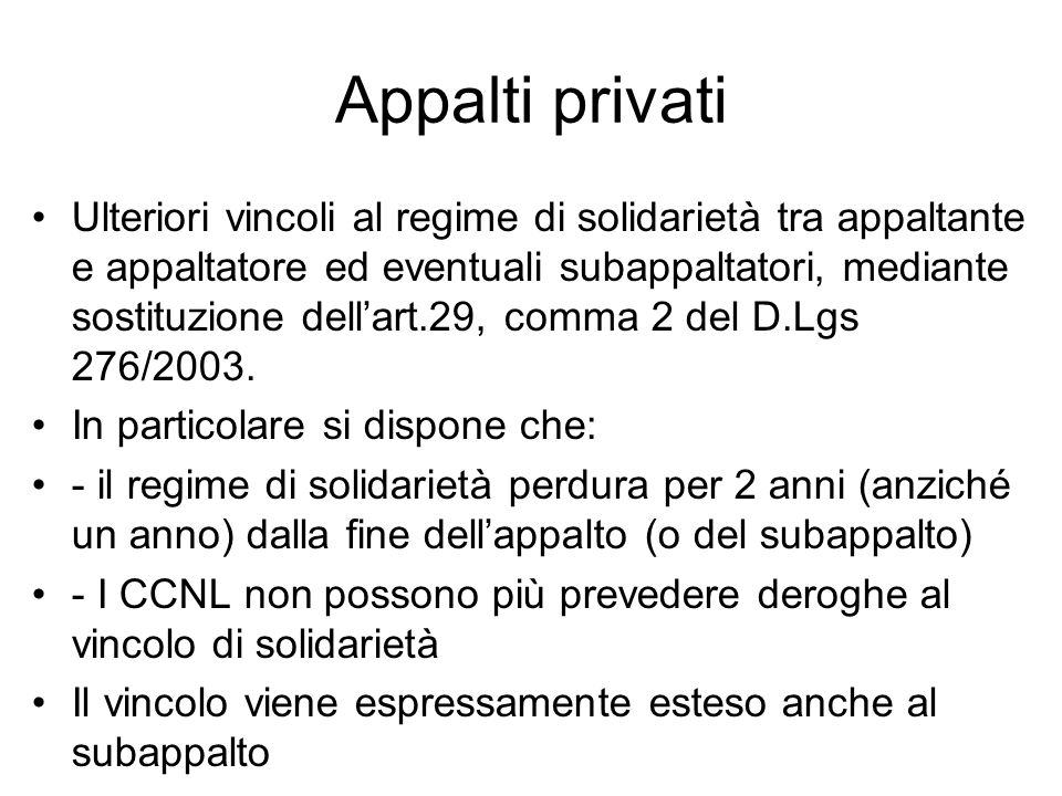 Appalti privati