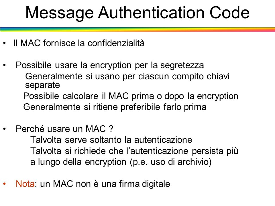 Message Authentication Code
