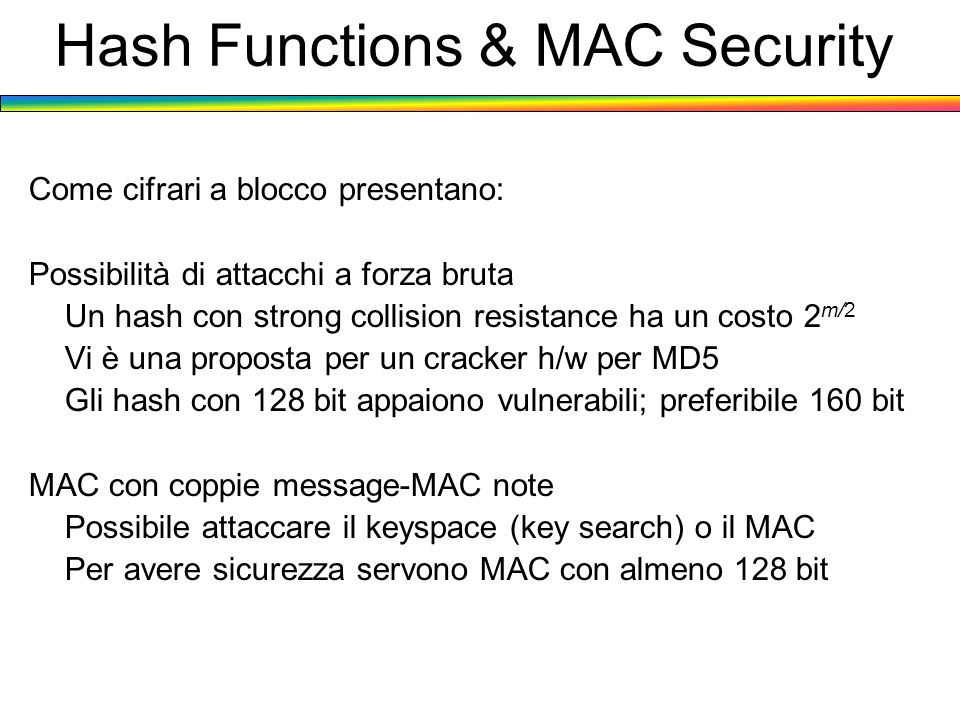 Hash Functions & MAC Security