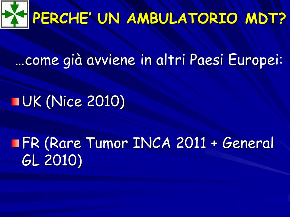 PERCHE' UN AMBULATORIO MDT