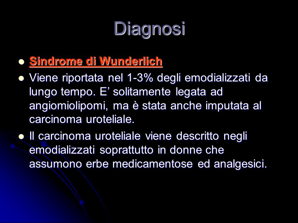 Diagnosi Sindrome di Wunderlich