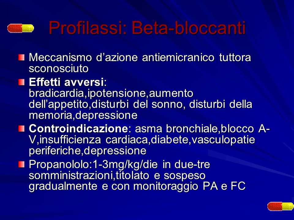 Profilassi: Beta-bloccanti