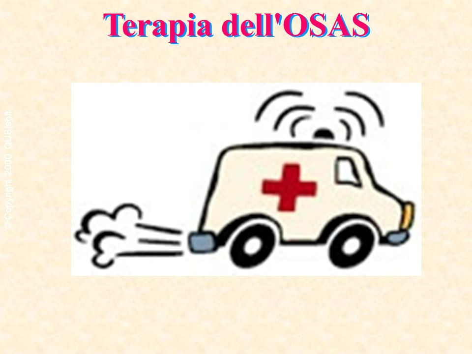 Terapia dell OSAS © Copyright 2000 QUBIsoft