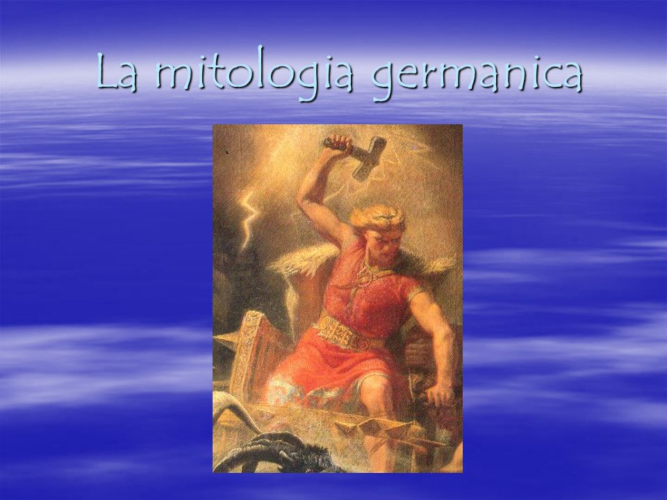 La mitologia germanica