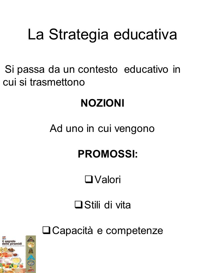 La Strategia educativa