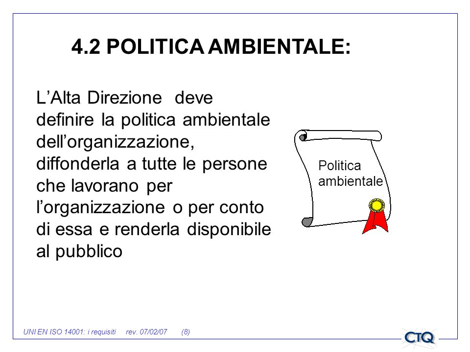 4.2 POLITICA AMBIENTALE: