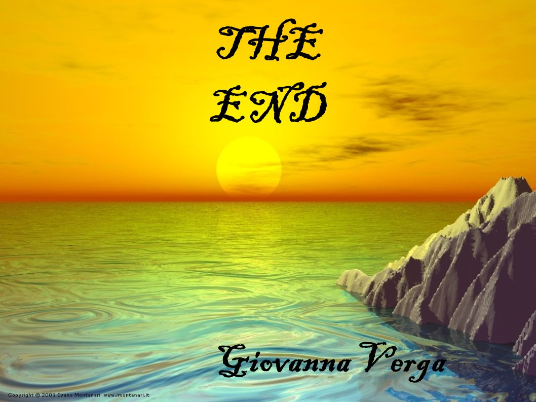 THE END Giovanna Verga