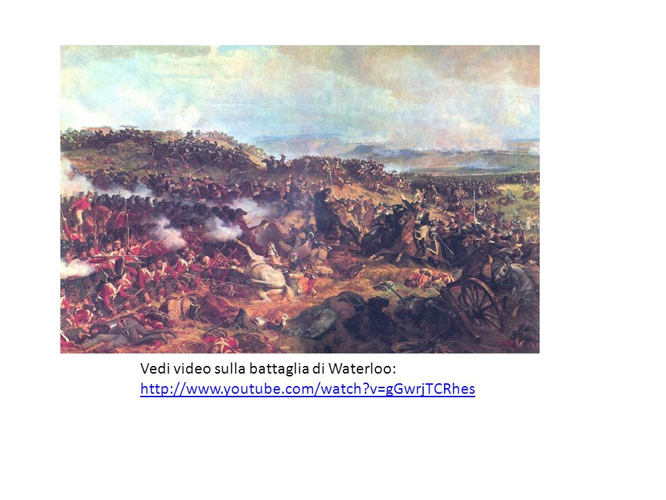Vedi video sulla battaglia di Waterloo:   youtube. com/watch