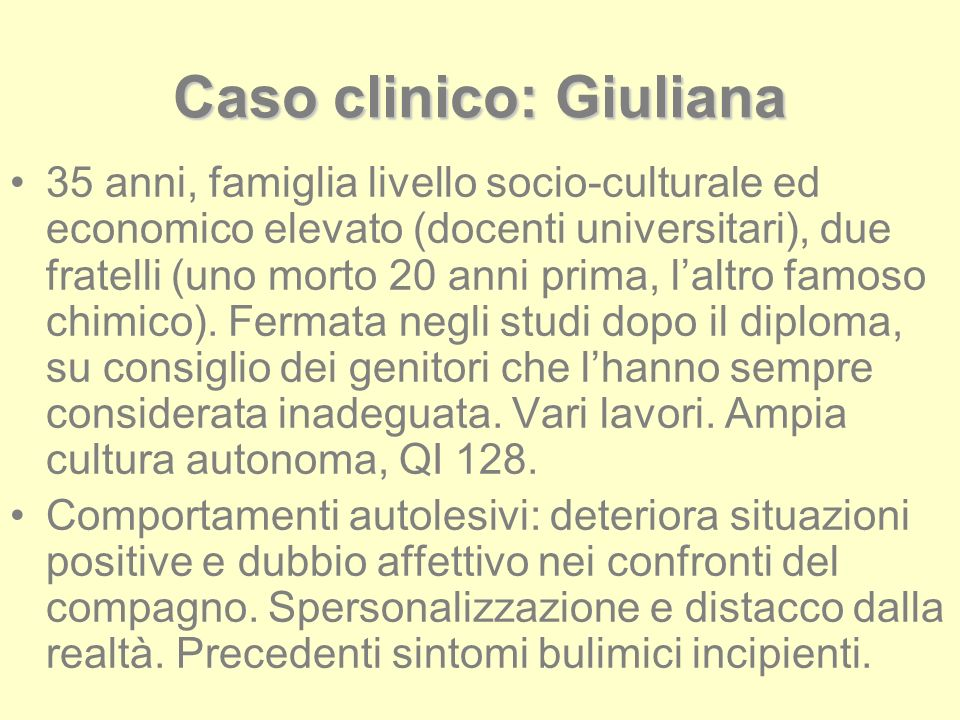 Caso clinico: Giuliana