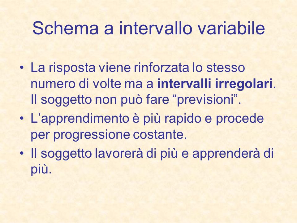 Schema a intervallo variabile