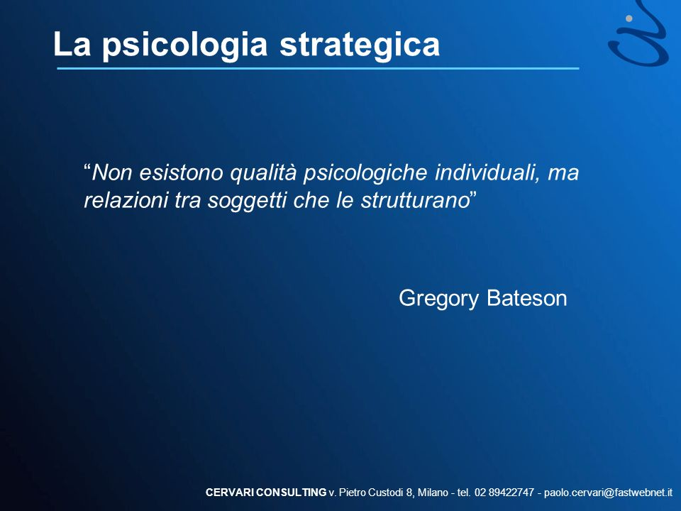 La psicologia strategica