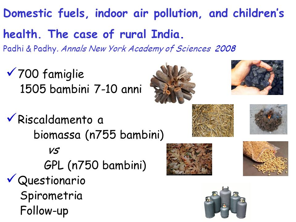Domestic fuels, indoor air pollution, and children's health
